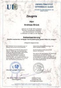 Asbestsanierung durch Andreas Brück in Gießen