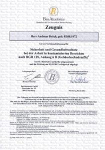 Asbestsanierung und Brandstoffsanierung in Gießen